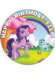 7.5 Personalised My Little Pony  Icing or Wafer Cake Top Topper
